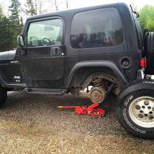 The broken Jeep... just what we needed