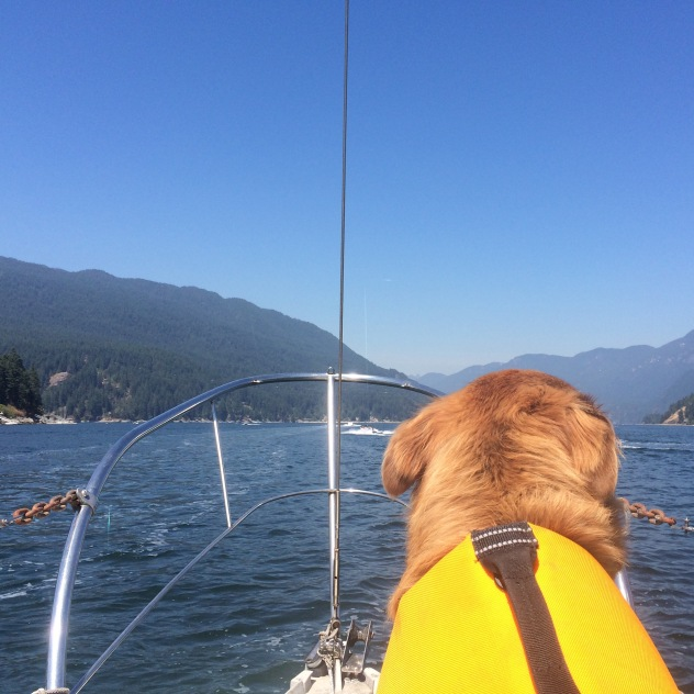 Lenny and I enjoying the view from the bow